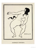 "Bathyllus Posturing, Illustration from ""The Sixth Satire of Juvenal,"" 1896 Giclee Print by Aubrey Beardsley"
