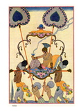"India, from ""The Art of Perfume,"" Published 1912 Giclee Print by Georges Barbier"