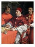 Portraits of Leo X Cardinal Luigi De' Rossi and Giulio De Medici 1518 Reproduction procédé giclée par  Raphael