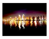 San Diego's Reflection Photographic Print by Alex Cybriwsky