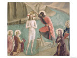 The Baptism of Christ, circa 1438-45 Giclee Print by Fra Angelico