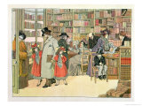 "The Book Shop, from ""The Book of Shops,"" 1899 Giclee Print by Francis Donkin Bedford"