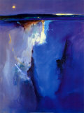 Horizont in Violettt&#246;nen Kunstdruck von Peter Wileman