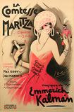 La Comtesse Maritza (c.1930) Samletrykk av Georges Dola