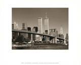 World Trade Center over Brooklyn Bridge Sztuka autor Igor Maloratsky