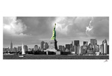 Statue of Liberty, New Downtown Panora Poster von Igor Maloratsky