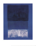 Nr. 14, Wei&#223; und Gr&#252;n in Blau Poster von Mark Rothko