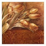 Copper Tulips II Print by Linda Thompson
