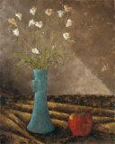 Aqua Vase I Posters by Trevor Copenhaver