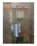Doing Laundry the Italian Way Photographic Print by Stephanie Elenbaas
