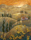 Tuscan Sunflowers II Prints by Marshall Banks