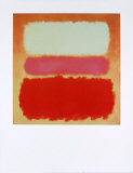 White Cloud over Purple Kunst af Mark Rothko