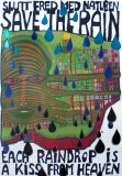 Save the Rain Poster por Friedensreich Hundertwasser