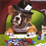 Poker Pups II Prints by Jenny Newland