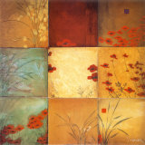 Poppy Nine Patch Prints by Don Li-Leger