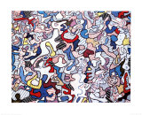Family Life, August 10, c.1963 Prints by Jean Dubuffet