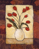 Tulips in Red Prints by Judi Bagnato