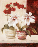 Red Orchids Prints by  Yuna