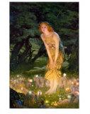 Víspera del solsticio de verano, c.1908 Láminas por Edward Robert Hughes