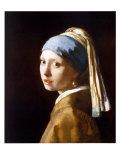 Flicka med pärlörhänge Affischer av Jan Vermeer