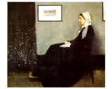 Arrangement in Gray and Black No. 1: Portrait of the Artist's Mother, 1871 Art Print