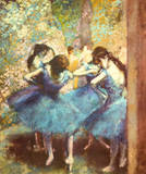 Dancers in Blue, c.1895 Print by Edgar Degas
