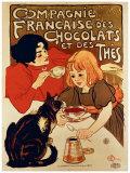 Compagnie française des chocolats et des thés Reproduction procédé giclée par Théophile Alexandre Steinlen
