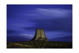 Devils Tower Sunset & Star Trails Photographic Print by Steve Gadomski