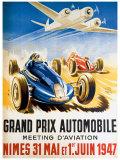 Grand Prix Automobile Nimes Giclee-trykk av Geo Ham