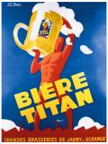 Biere Titan Giclée-tryk af G. Foure
