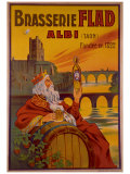 Brasseries Flad Albi Giclee Print