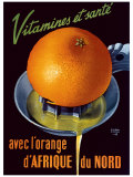 Vitamines et Sante Giclee Print by Roland Ansieu