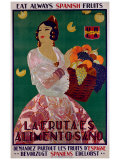 Eat Always Spanish Fruits Giclee Print