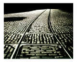 Trolley tracks Photographic Print by Frank Tozier
