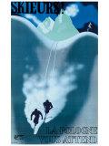 Skieurs Impression giclée