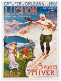 Luchon, Golf and Winter Sports Impression giclée
