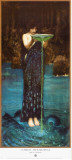 Circe Invidiosa Stretched Canvas Print by John William Waterhouse