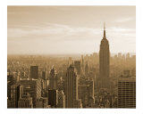 View of Empire State Building and Manhattan Skyline - New York Photographic Print by DW labs