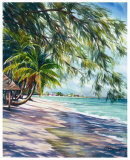 Shady Beach Print by Lois Brezinski