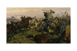 Oil Painting of the Battle of Hastings Giclée-tryk af Tom Lovell