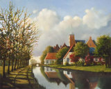 Village Reflections Poster by Pieter Molenaar