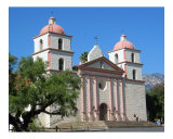 Mission Santa Barbara Church Photographic Print by Alan R Zeleznikar