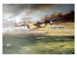 WWII, AAF B-24D Consolidated Bomber Reproduction procédé giclée par Paul Wollman