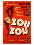 Josephine Baker, Zou Zou Reproduction proc&#233;d&#233; gicl&#233;e