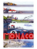 Monaco Grand Prix F1 Race, c.1973 Gicleetryck