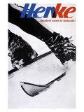 Henke Downhill Ski Boots Giclee Print