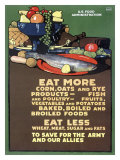 U.S. Food Administration, Ration Diet Giclee Print
