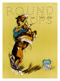 Union Pacific, Horse Round Up Giclee Print