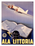 Ala Littoria Airline Aviation Giclee Print