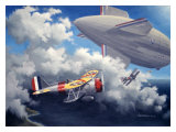 WWII, USN Curtiss F9C Sparrowhawk Reproduction procédé giclée par Paul Wollman